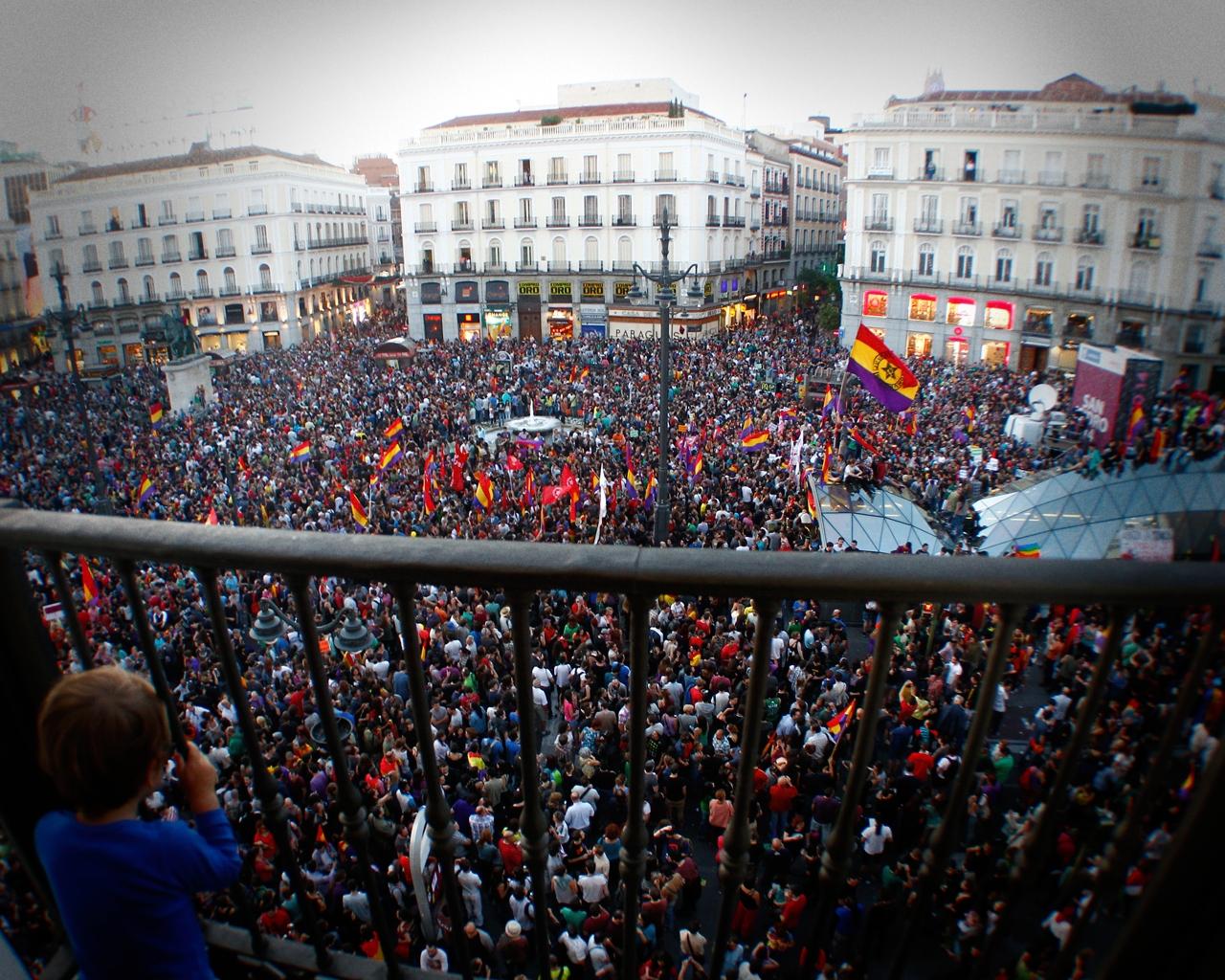 Manifestación republicana tras la abdicación de Juan Carlos I.