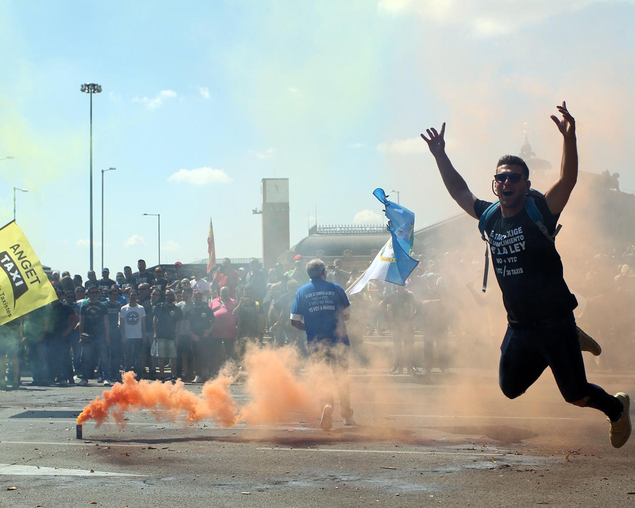Huelga en el sector del taxi